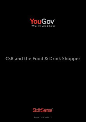 Consumers and food - Food and Drink Federation
