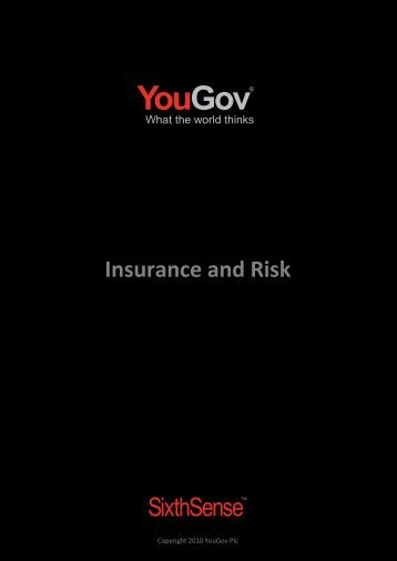 Insurance and Risk - SixthSense - YouGov