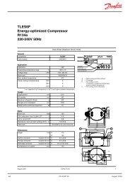TLES6F Energy-optimized Compressor R134a 220-240V 50Hz - North