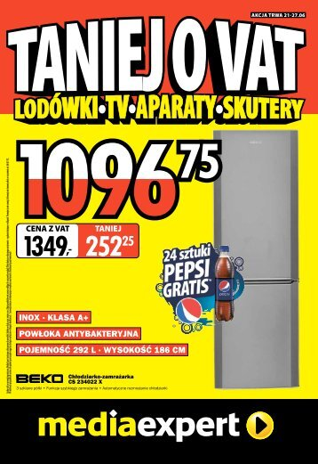 POJEMNO?? 292 L ? WYSOKO?? 186 CM INOX ... - Mediaexpert.pl