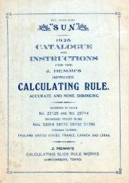 1926 Hemmi Catalog 4.09MB pdf - Slide Rule Museum