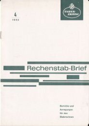 I Rechenstab-Brief - Slide Rule Museum