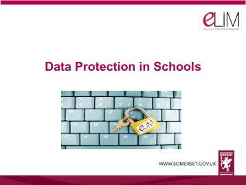 Data Protection in Schools - Somerset Learning Platform
