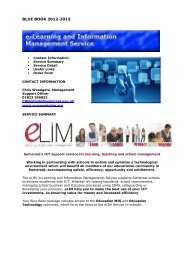e-Learning and Information Management Service - Somerset ...