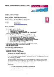 Contract Support Chargeable Service for Academy Schools