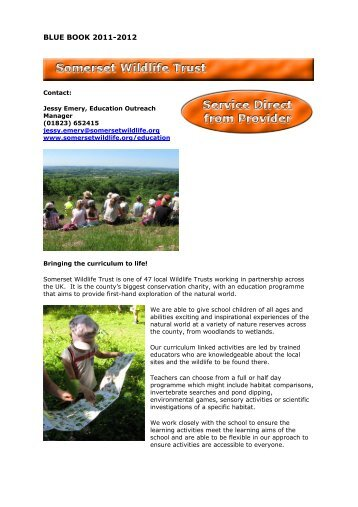 Somerset Wildlife Trust - Somerset Learning Platform