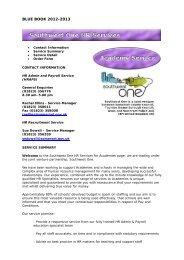 Southwest One HR Services
