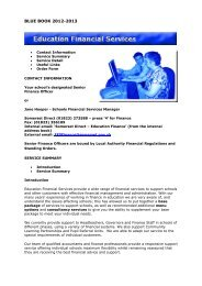 Education Financial Services - Somerset Learning Platform