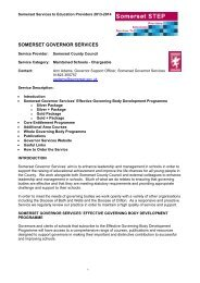 Somerset Governor Services Chargeable Service for Maintained ...