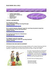 Somerset County Museums Service - Somerset Learning Platform ...