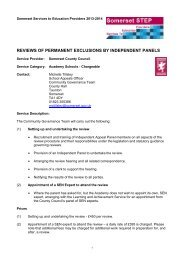 Reviews of Permanent Exclusions by Independent Panels ...