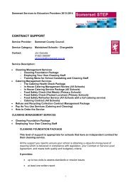 Contract Support Chargeable Service for Maintained Schools