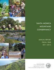 Annual Report - Santa Monica Mountains Conservancy - State of ...