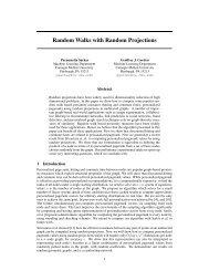 Random Walks with Random Projections - SNAP - Stanford University