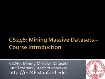 data mining - SNAP - Stanford University