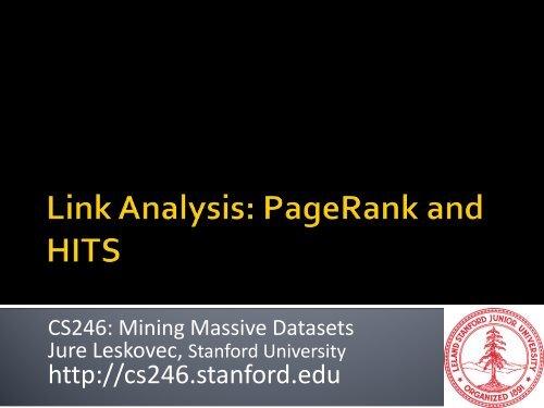 M - SNAP - Stanford University