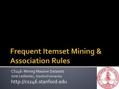 Association Rules - SNAP - Stanford University