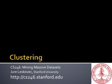 Clustering - SNAP - Stanford University