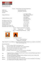 Material Safety Data Sheet Tetrakis(dimethylamino)tin Section 1 ...