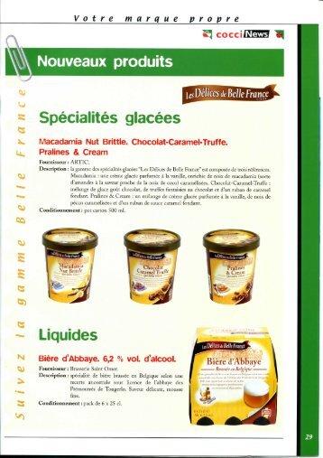 Nouveaux produits Spécialités glacées - Sniw