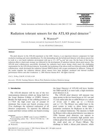 Radiation tolerant sensors for the ATLAS pixel detector