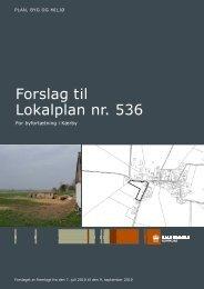 Forslag til Lokalplan nr. 536 - 16-12-2009