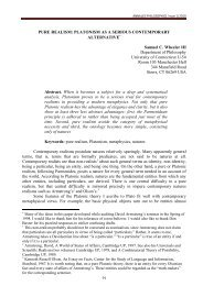 PURE REALISM: PLATONISM AS A SERIOUS CONTEMPORARY ...