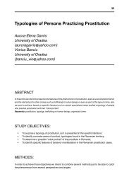 Typologies of Persons Practicing Prostitution - Facultatea de Stiinte ...