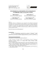 Capitolul XI - Facultatea de Stiinte Socio-Umane, Universitatea din ...
