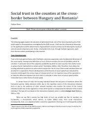 Încrederea socială în județele de la granița dintre Ungaria și ...