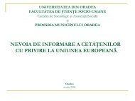 Nevoia de informare cu privire la Uniunea Europeană