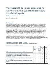Toleranța față de frauda academică în universitățile din zona ...