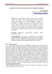 SUBJECTIVITY AND TECHNO-SCIENCE IN THEODOR ADORNO ...