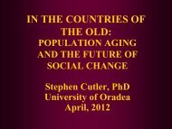Implications of Population Aging