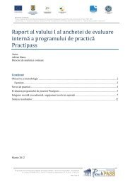 Raport al valului I al anchetei de evaluare interna a programului de ...