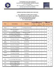 Lista acordurilor bilaterale Erasmus SM-TA valabile pentru anul ...