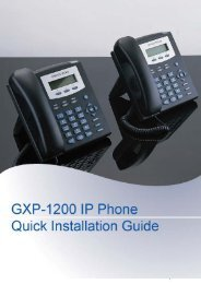 GXP1200 Quick Installation Guide - Grandstream Networks