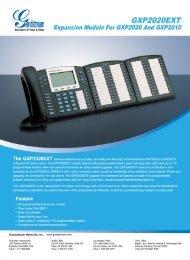 Grandstream GXP-2020 EXT Sidecar Datasheet - VoIP Supply