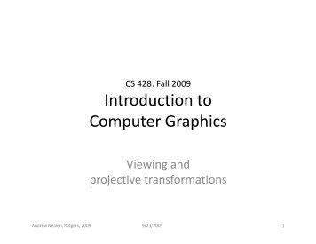 Introduction to Computer Graphics - Sakai