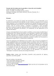 iii Energía solar fotovoltaica para la agricultura y desarrollo rural - FAO