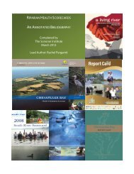 2012 List of Example Scorecards - Sonoran Institute