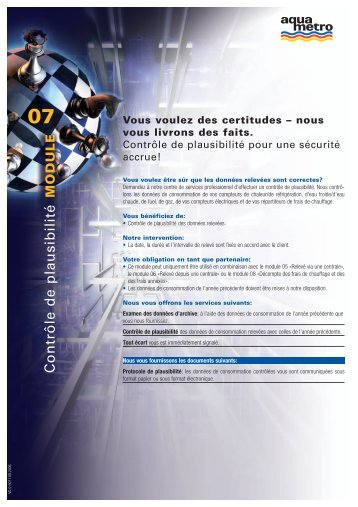 07 MODULE Contrôle de plausibilité - Aquametro AG