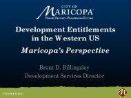 Development Entitlements in the Western US ... - Sonoran Institute