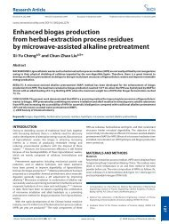 Enhanced biogas production from herbal-extraction process ...