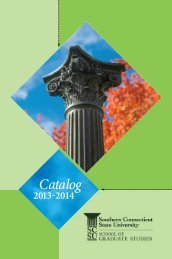 Graduate Catalog - Southern Connecticut State University