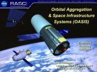 Orbital Aggregation & Space Infrastructure Systems (OASIS) Orbital ...