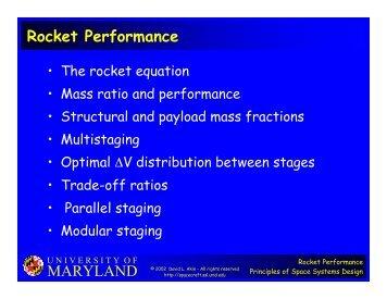 MARYLAND Rocket Performance