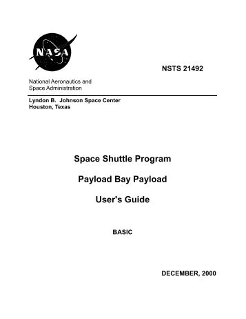 Space Shuttle Program Payload Bay Payload User's Guide
