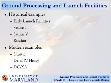 Ground Processing and Launch Facilities