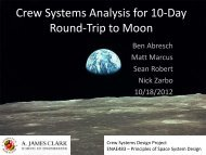 Crew Systems Analysis for 10-Day Trip to Moon